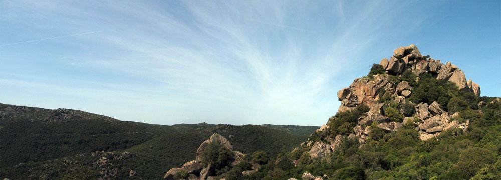 Panorama dal trekking su Monte Arcuentu