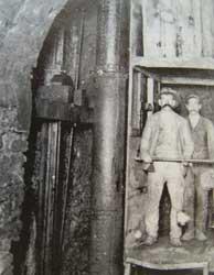 Ascensore in miniera