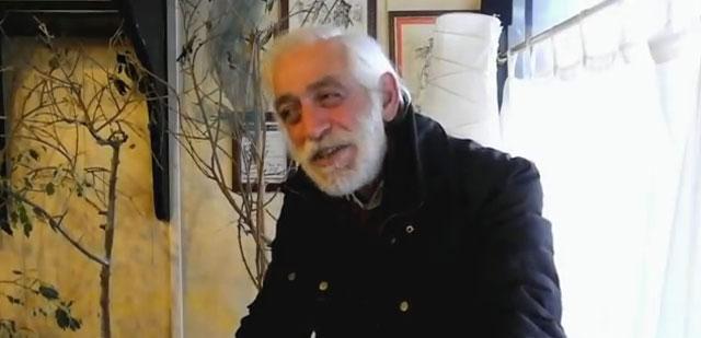 Lo scrittore Pierpaolo Saba