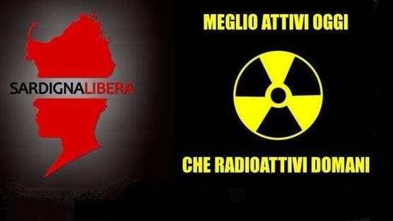 contro le scorie nucleari in Sardegna