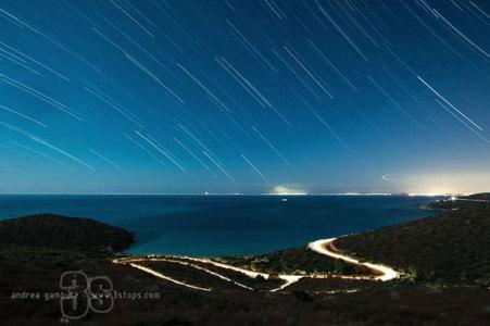 stellata startrail sardegna